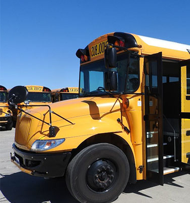 Picture of a yellow school bus.