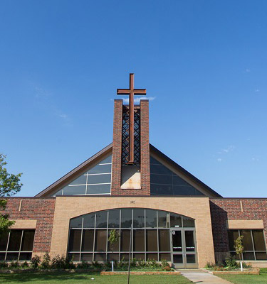 Outside of school looking at the Chapel